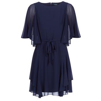 Ruhák Női Rövid ruhák Lauren Ralph Lauren NAVY-3/4 SLEEVE-DAY DRESS Tengerész