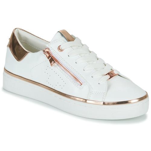Cipők Női Rövid szárú edzőcipők Tom Tailor 6992603-WHITE Fehér