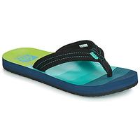 Cipők Fiú Lábujjközös papucsok Reef KIDS AHI Kék / Zöld