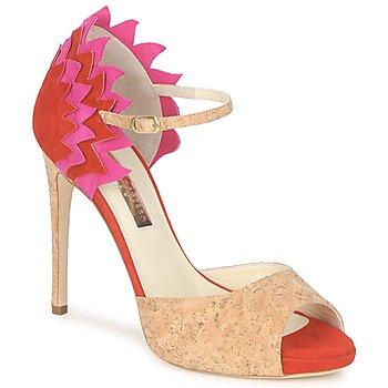 Cipők Női Szandálok / Saruk Rupert Sanderson FLAMANTE Piros / Fekete