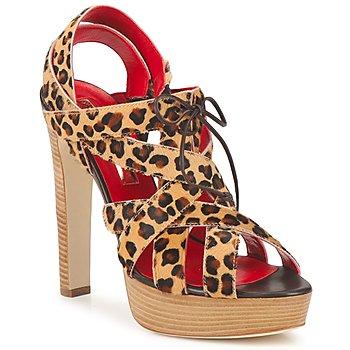 Cipők Női Szandálok / Saruk Rupert Sanderson BRISE Leopárd