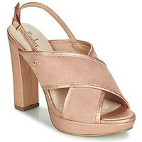 Cipők Női Szandálok / Saruk Menbur VILLALBA Rózsaszín / Arany