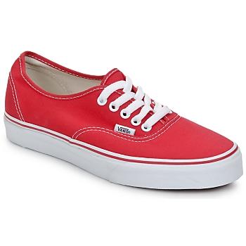 Cipők Rövid szárú edzőcipők Vans AUTHENTIC Piros