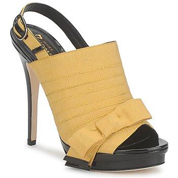 Cipők Női Szandálok / Saruk Jerome C. Rousseau ROXY Citromsárga / Fekete