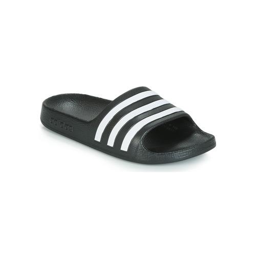 Cipők Gyerek strandpapucsok adidas Performance ADILETTE AQUA K Fekete  / Fehér