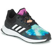 Cipők Lány Futócipők adidas Performance RAPIDARUN X K Fekete