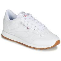 Cipők Női Rövid szárú edzőcipők Reebok Classic CL LTHR Fehér