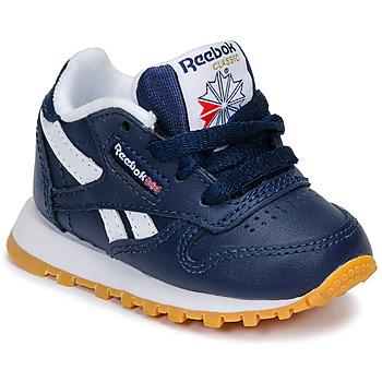 Cipők Fiú Rövid szárú edzőcipők Reebok Classic CLASSIC LEATHER Kék / Fehér