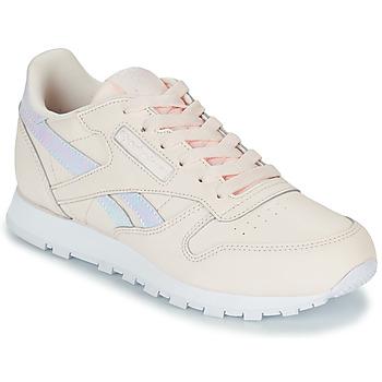 Cipők Lány Rövid szárú edzőcipők Reebok Classic CLASSIC LEATHER Rózsaszín