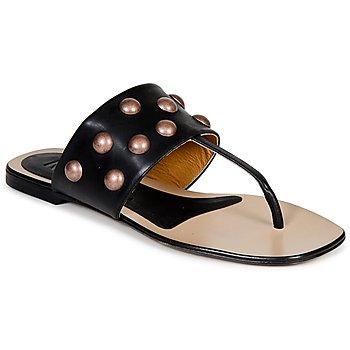 Cipők Női Lábujjközös papucsok Keyté DELLIA Fekete
