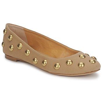 Cipők Női Balerina cipők / babák Keyté CANDY TESSU Bézs