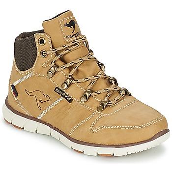 Cipők Fiú Csizmák Kangaroos BLUERUN 2098 Bézs