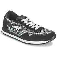 Cipők Női Rövid szárú edzőcipők Kangaroos INVADER TWEED Szürke / Fekete