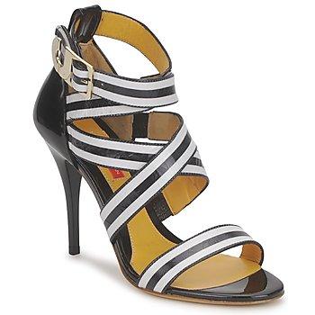 Cipők Női Szandálok / Saruk Charles Jourdan BARBARA Fekete  / Fehér