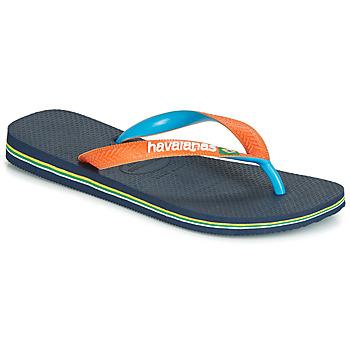 Cipők Lábujjközös papucsok Havaianas BRASIL MIX Tengerész / Narancssárga