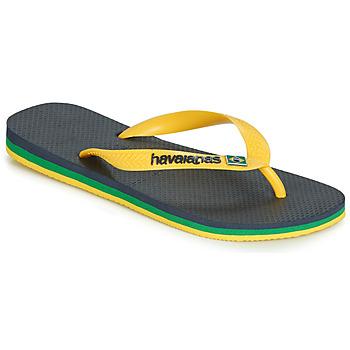 Cipők Lábujjközös papucsok Havaianas BRASIL LAYERS Tengerész