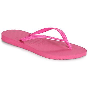 Cipők Női Lábujjközös papucsok Havaianas SLIM Rózsaszín