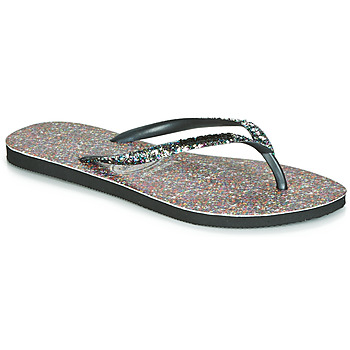 Cipők Női Lábujjközös papucsok Havaianas SLIM CARNAVAL Fekete