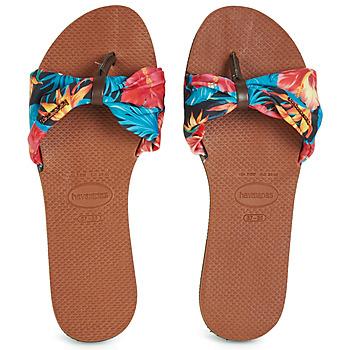 Cipők Női Lábujjközös papucsok Havaianas YOU SAINT TROPEZ Virág
