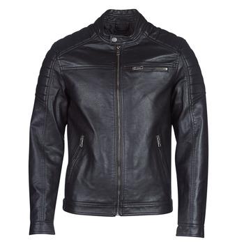 Ruhák Férfi Bőrkabátok / műbőr kabátok Jack & Jones JCOROCKY Fekete
