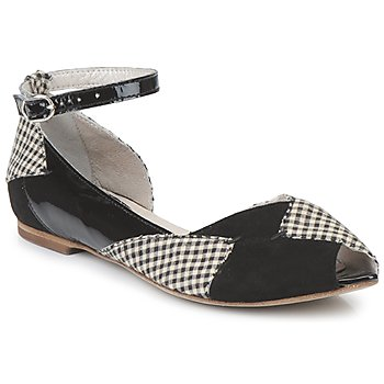 Cipők Női Balerina cipők / babák Mosquitos DELICE Fekete