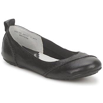 Cipők Női Balerina cipők / babák Hush puppies JANESSA Fekete