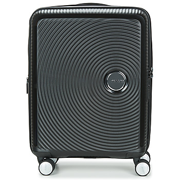 Táskák Keményfedeles bőröndök American Tourister SOUNDBOX 55CM 4R Fekete