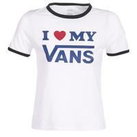 Ruhák Női Rövid ujjú pólók Vans VANS LOVE RINGER Fehér