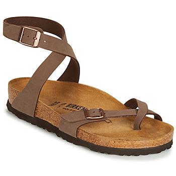 Cipők Női Szandálok / Saruk Birkenstock YARA Barna