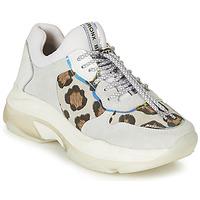 Cipők Női Rövid szárú edzőcipők Bronx BAISLEY Fehér / Leopárd
