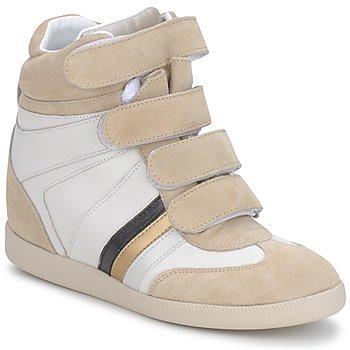 Cipők Női Rövid szárú edzőcipők Serafini MANATHAN SCRATCH Fehér-bézs-kék
