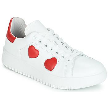 Cipők Női Rövid szárú edzőcipők Yurban JIBOUILLE Fehér