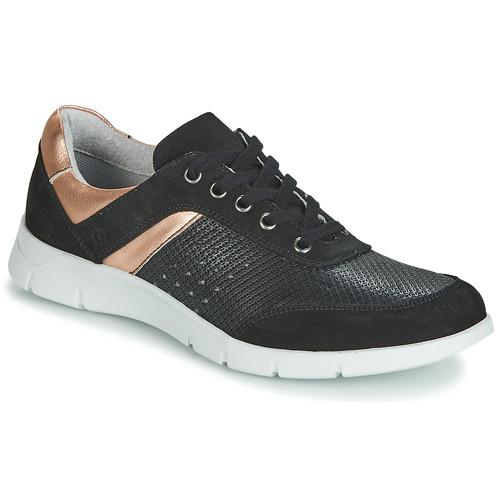 Cipők Női Rövid szárú edzőcipők Yurban JEBELLE Fekete