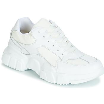 Cipők Női Rövid szárú edzőcipők Yurban JILIBELLE Fehér