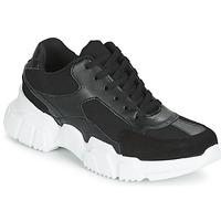 Cipők Női Rövid szárú edzőcipők Yurban JILIBELLE Fekete  / Fehér