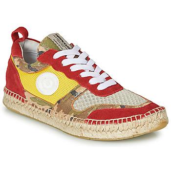Cipők Női Rövid szárú edzőcipők Pataugas MARCIA Citromsárga / Piros