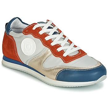 Cipők Női Rövid szárú edzőcipők Pataugas IDOL/MIX Narancssárga / Bézs / Kék