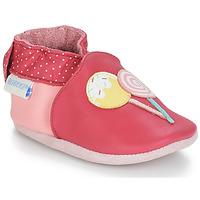 Cipők Lány Baba mamuszok Robeez FUNNY SWEETS Rózsaszín / Fehér