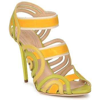 Cipők Női Szandálok / Saruk Roberto Cavalli RPS691 Zöld / Citromsárga