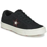 Cipők Női Rövid szárú edzőcipők Converse ONE STAR LOVE IN THE DETAILS SUEDE OX Fekete