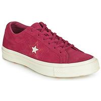 Cipők Női Rövid szárú edzőcipők Converse ONE STAR LOVE IN THE DETAILS SUEDE OX Fukszia