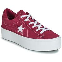 Cipők Női Rövid szárú edzőcipők Converse ONE STAR PLATFORM SUEDE OX Fukszia / Fehér