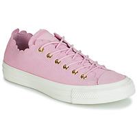 Cipők Női Rövid szárú edzőcipők Converse CHUCK TAYLOR ALL STAR FRILLY THRILLS SUEDE OX Rózsaszín