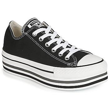 Cipők Női Rövid szárú edzőcipők Converse CHUCK TAYLOR ALL STAR PLATFORM EVA LAYER CANVAS OX Fekete