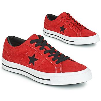 Cipők Férfi Rövid szárú edzőcipők Converse ONE STAR DARK STAR VINTAGE SUEDE OX Piros