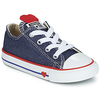 Cipők Lány Rövid szárú edzőcipők Converse CHUCK TAYLOR ALL STAR SUCKER FOR LOVE DENIM OX Kék