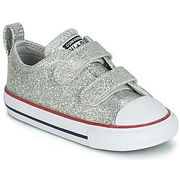 Cipők Lány Rövid szárú edzőcipők Converse CHUCK TAYLOR ALL STAR 2V SPARKLE SYNTHETIC OX Szürke