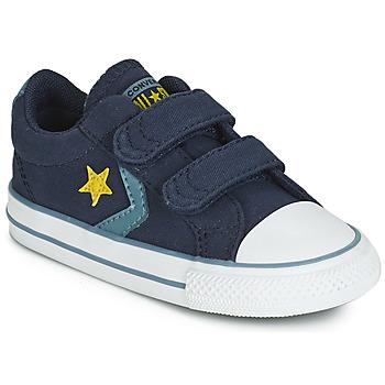 Cipők Fiú Rövid szárú edzőcipők Converse STAR PLAYER 2V CANVAS OX Kék