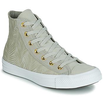 Cipők Női Magas szárú edzőcipők Converse CHUCK TAYLOR ALL STAR SUMMER PALMS HI Zöld