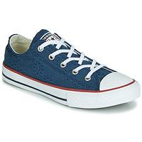 Cipők Lány Rövid szárú edzőcipők Converse CHUCK TAYLOR ALL STAR BROADERIE ANGLIAS OX Tengerész
